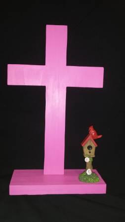 Photo Religious Pink Dresser Cross - $10 (Clayton)