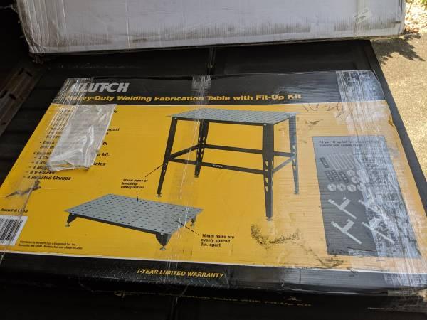 Photo Welding table - $100 (Swansboro)