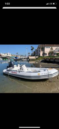 Photo 14 Ft Zodiac Inflatable w 60hp - $25,500 (Newport Beach)