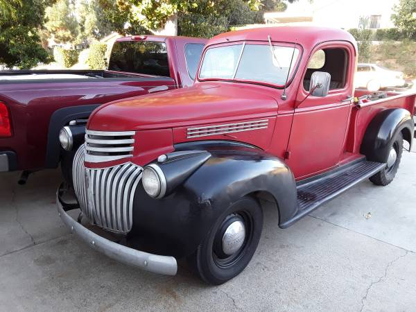 Photo 1946 Chevy Pickup Truck Original Driver - $16,000 (OrangeTustin)