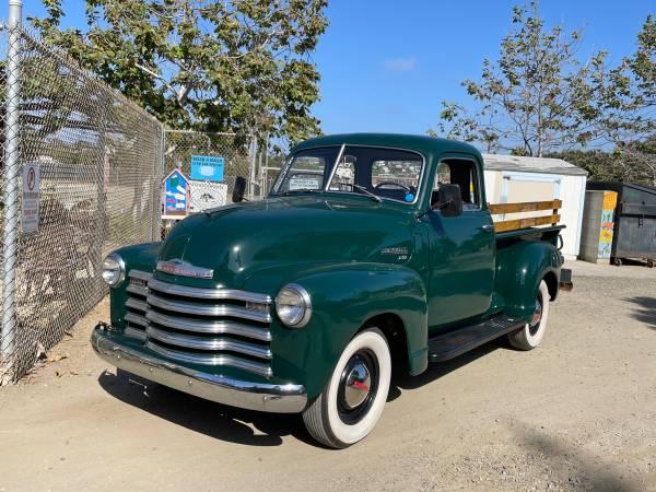Photo 1949 Chevy 3100 5-Window Ranch Truck Restored - $33,500 (Encinitas)