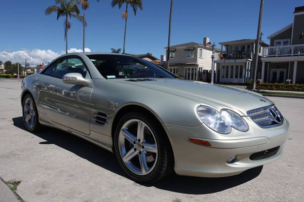 Photo 2004 Mercedes Benz SL500 AMG Hardtop Convertible Black Leather 51k mi. - $9500 (firm price- no offers - LONG BEACH))