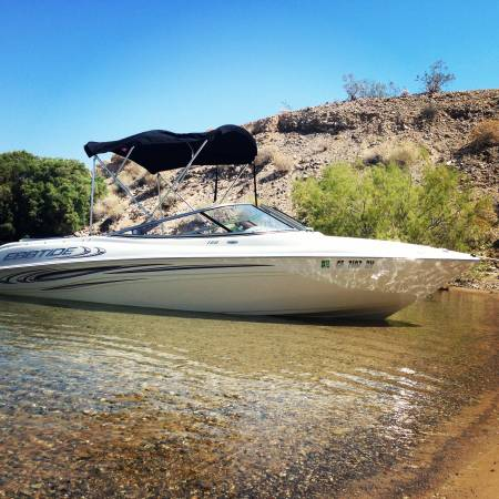 Photo 2013 Ebbtide Bowrider 19 open bow boat with only 25 hours - $26,900 (Orange)