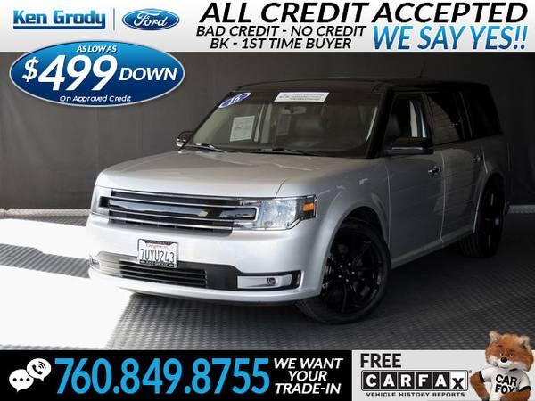 Photo 2016 Ford Flex SEL (- $499 Down oac -CallText (760) 849-8755)