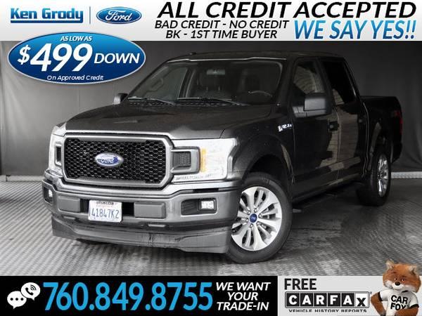 Photo 2018 Ford F-150 XLT (- $499 Down oac -CallText (760) 849-8755)