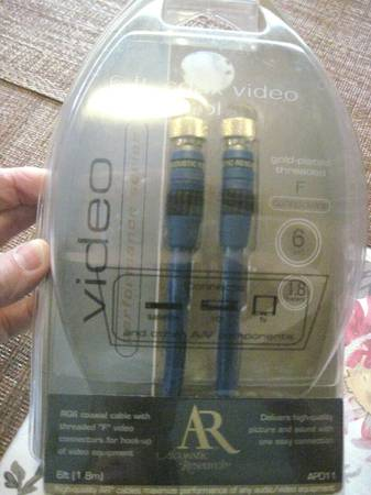 Photo Acoustic Research 6 ft. Video Cable Performance Series Gold Plate - $10 (Irvine)