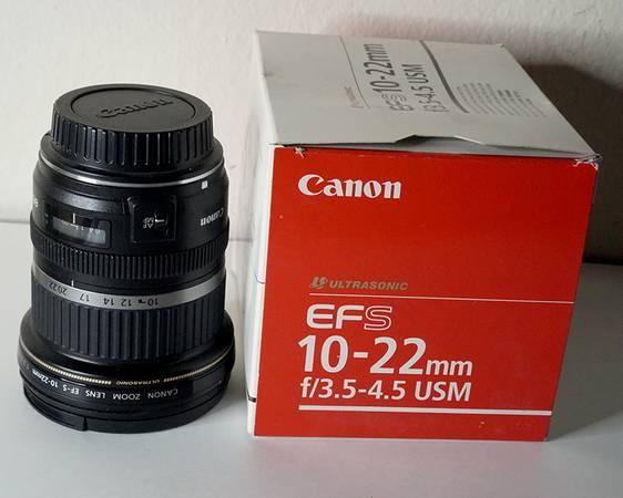 Photo Canon EFs 10-22 lens - $250