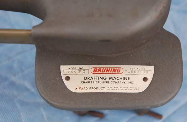 Photo Charles Bruning Drafting Machine Model 2699 PC Two scales included. - $90 (Huntington)