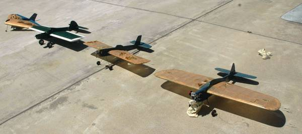Photo Control Line, 4 Vintage Gas Powered Balsa Wood Airplane Models - $200 (Westminster)