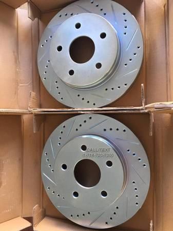 Photo DRILLEDSLOTTED BRAKE ROTORSPADS 4 ALL CHRYSLER, DODGE,  JEEP MODELS - $1 (BRAKES ALSO AVAILABLE 4 ALL OTHER MODELS)