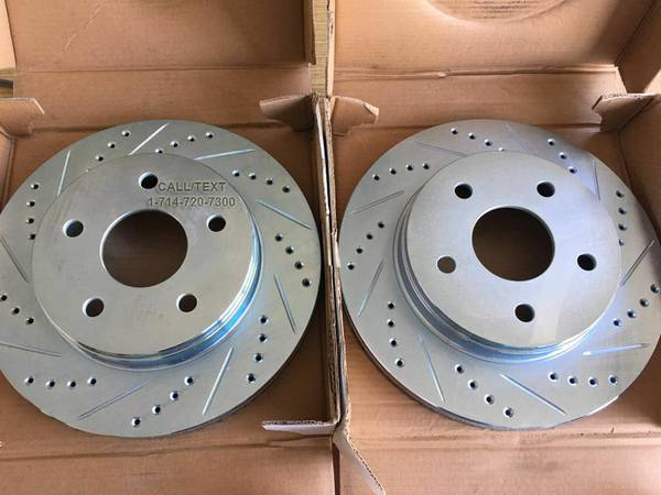 Photo DRILLSLOT BRAKE ROTORS PADS 4 ALL CHEVY, FORD, GMC,  MERCURY MODELS - $1 (BRAKES ALSO AVAILABLE 4 ALL OTHER MODELS)