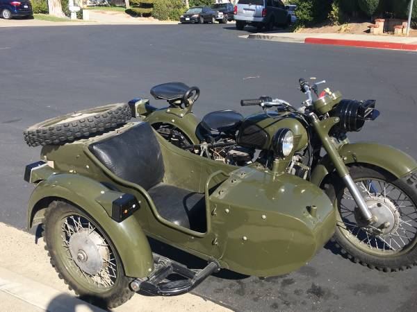 Photo Dnepr Motorcycle with Sidecar Like Ural BMW - $8,995 (Lake Forest)