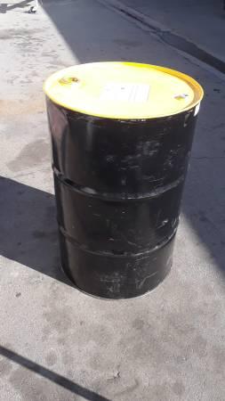 Photo Empty black 55 gallon oil barrell barrel drum - $25 (Huntington Beach)
