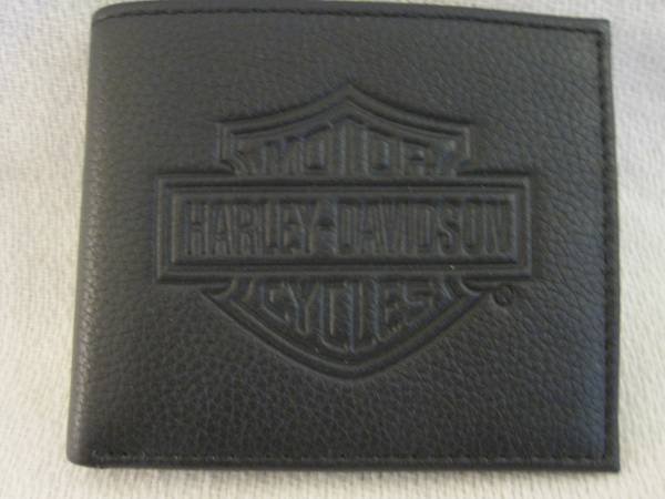 Photo Harley-Davidson Mens Leather Wallet - MSB8361 Black - $15 (Huntington Beach)