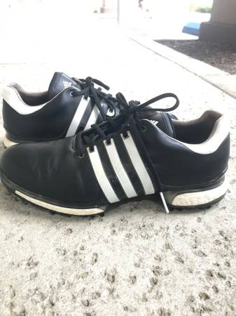 Photo Like New pair of Adidas Tour 360 Boost Leather Mens Golf Shoes Size12 - $75 (Laguna Niguel)