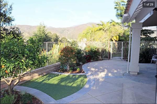 Photo Mountain View Yard 2 bedroom 2 bath at Trabuco Canyon (Trabuco Canyon)