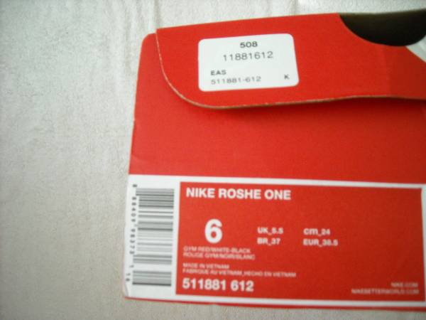Photo NIKE ROSHE ONE, RED, Men39s Size 6 - $75 (SAN CLEMENTE)