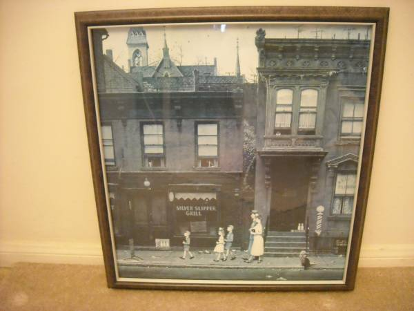 Photo NORMAN ROCKWELL, quotWALKING TO CHURCHquot, FRAMED PRINT - $110 (SAN CLEMENTE)