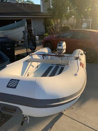 Photo New Hypalon Aluminum Hull Inflatable Rib and New Honda Outboard - $4,400 (Newport Beach)