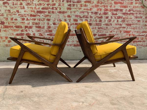 Photo PAIR OF MID CENTURY Z CHAIRS - $1495 (Pico Rivera)