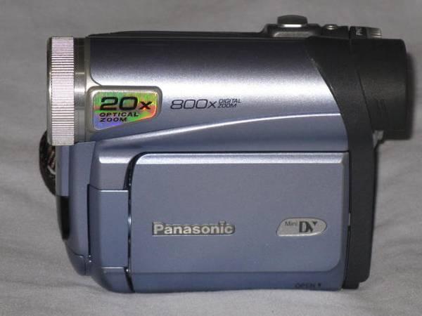Photo Panasonic Minidv camcorder mini dv Palmcorder movie camera video - $120 ((LAX) TORRANCE)