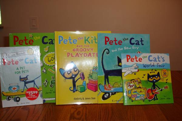 Photo Pete the Cat Books - $38