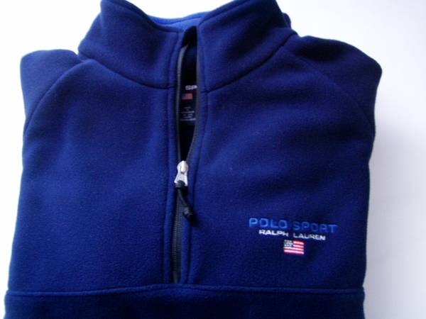 Photo RL Polo Sport Ralph Lauren Mens Medium-Large Polar fleece jacket - $39 (Lake Forest)