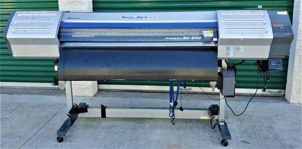 Photo Roland SC-540 Print  Cut Soljet Pro II Printer TUC-1 Winder Benes Dry - $2500 (Costa Mesa)