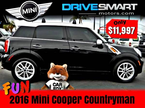 Photo SUPER FUN CAR  IMMACULATE 2016 MINI COOPER COUNTRYMAN BAD CREDIT OK - $11997 ( FREE DELIVERY WITH APPROVALS  CALL 714-625-9521)