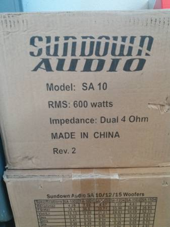 Photo Sundown Audio SA-10 Brand New in Box - $180 (Orange County)
