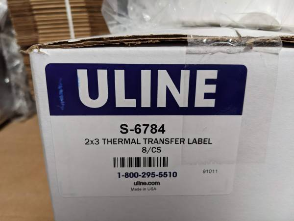 Photo THERMAL TRANSFER LABELS - INDUSTRIAL - $75 (Anaheim)