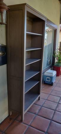 Photo Tall solid wood IKEA bookcase - $60 (Santa Ana)