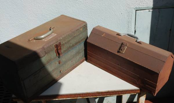 Photo Two Vintage Tools Boxes. Superficial rust. See pictures - $35 (Westminster)