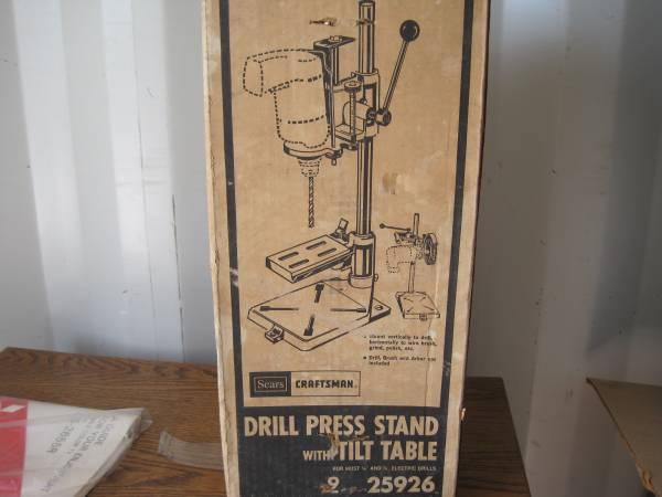 Photo Vintage Craftsman Drill Press Stand w Tilt Table - 9-25926 - $50 (Huntington Beach)