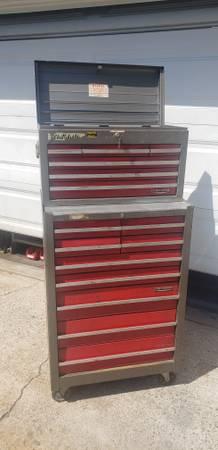 Photo Vintage Sears Craftsman 1960s Tool Box Chest 6  9 Drawer Gray - $450 (Garden Grove)