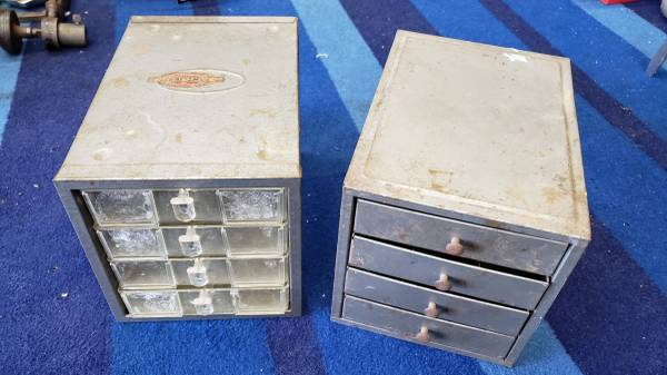 Photo Vintage Sears Craftsman Small 4 Drawer Storage Cabinet - $50 (Garden Grove)