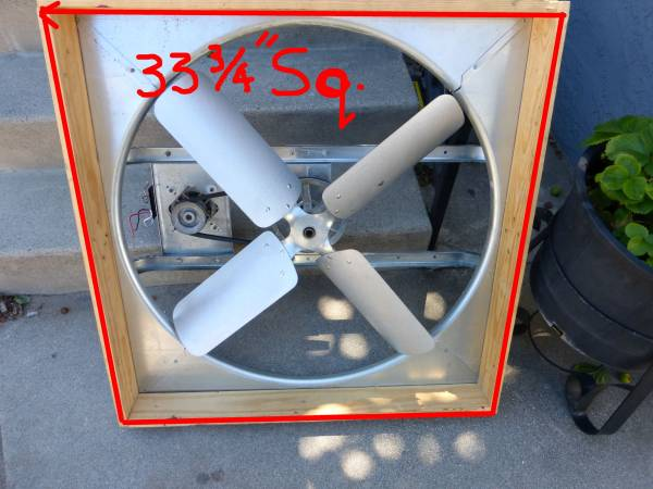 Photo Whole House Attic Fan With Overhead Shutter - $120 (Inland Empire)