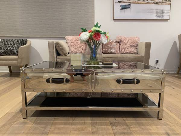 Photo Z Gallerie Coffee Table and End Table - $380 (Irvine Orange County Great Park)
