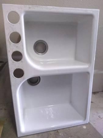 Photo KOHLER quotDOUBLE SINKquot Used CAST IRON - $200 (Recycle  Reuse)