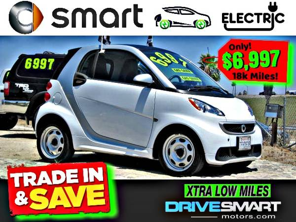 Photo quotALL - ELECTRICquot  2015 SMART CAR Only 18K MILES BAD CREDIT OK - $6997 (1 YELP DEALER LOWEST PRICES BEST FINANCING 949-689-8124)