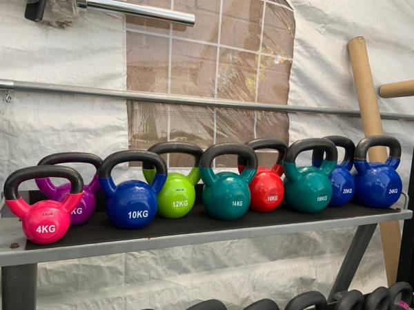 Photo weights vinyl Kettlebell set 4-24kg - $470 (Orange)