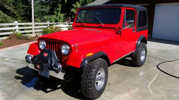 Photo 1985 Jeep CJ7 - $19900 (COOS BAY)