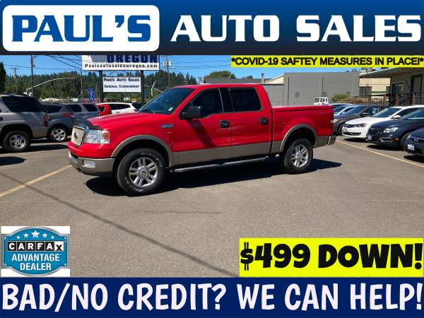 Photo 2004 FORD F150 LARIAT SUPERCREW 4X4 - $12,990 (BAD CREDIT IS NO PROBLEM HERE)