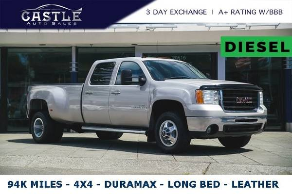 Photo 2008 GMC Sierra 3500 Diesel 4x4 4WD 1OWNER  DURAMAX DUALLY  LONG BED - $591 (Est. payment OAC)