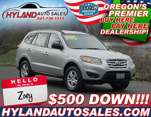 Photo 2010 Hyundai Santa Fe ALL WHEEL DRIVE BlueTooth  HYLAND AUTO SALES - $8,750 (REAL IN-HOUSE FINANCING THAT CAN BUILD YOUR CREDIT)