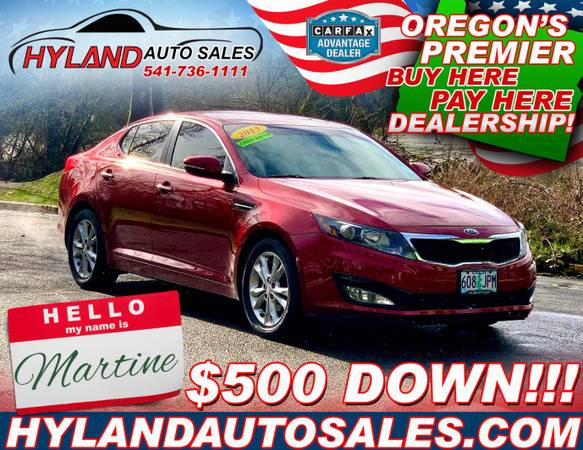 Photo 2013 Kia Optima EX, BlueTooth, Leather, 35-MPG  Hyland Auto Sales  - $9,995 (Martine can be DRIVEN HOME FOR $500 o.a.c.)