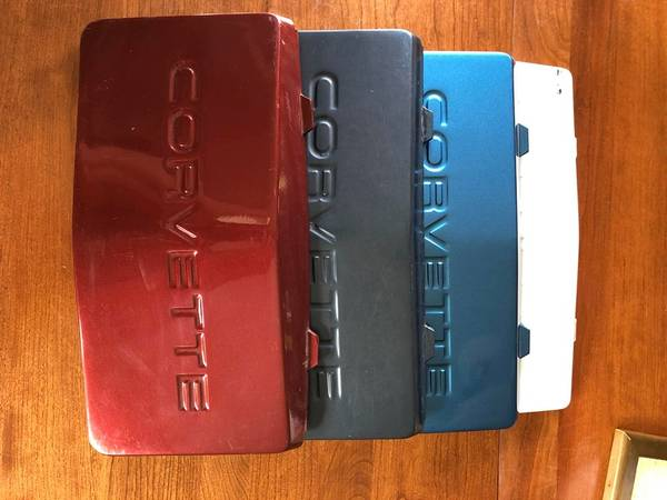 Photo 84 to 90 Corvette front license plate filler $15 each. - $15 (Astoria)