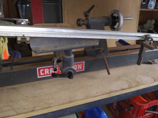 Photo Craftsman variable speed 2hp 38quot wood lathe - $700 (Lakeside)
