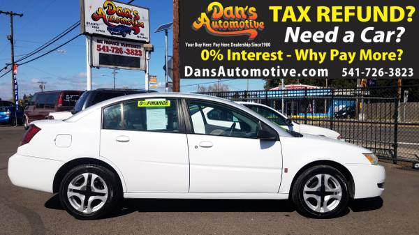 Photo Easy APPROVAL 2003 Low Mileage Saturn ION Level 3 - $1199 (DOWN$299 Interest FREE Financing for 19 Months  Ownership)