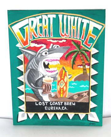 Photo Great White Lost Coast Brewery from Eureka, CA Painting - 20quot x 16quot - $10 (Eugene, West Side)